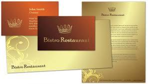 business card template for bistro restaurant menu order custom