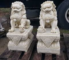 fu dog statues for sale temples temple dogs rock solid statues