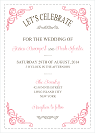 wedding invitation format wedding invitation templates wedding planner and decorations