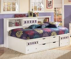 Twin Size Bed Frame With Drawers Ashley Furniture Zayley Bedside Storage Bed For Girls Zayley