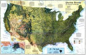 The Map Of United States by United States The Physical Landscape