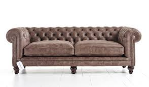 Used Chesterfield Sofas Sale Loveseat Tufted Leather Furniture Nailhead And Loveseat