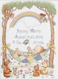 bucilla our blessing birth record cross stitch kit 45594