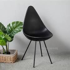 chaise loft design moderne siège en plastique et en métal jambe de mode à manger