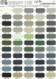 Blue Gray Color Mercedes Benz Ponton Paint Codes Color Charts Www Mbzponton Org