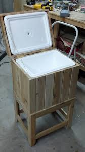 Patio Ice Bucket With Stand by How To Build A Cedar Ice Chest How To Build Ice And Coolers