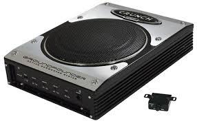caisson basse sous siege acoustique caisson de basse active ultraplat crunch gp800