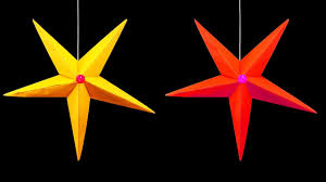 how to make a hanging paper star christmas crafts hd youtube
