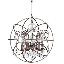 Industrial Crystal Chandelier Crystorama 9028 Eb Cl Mwp Solaris