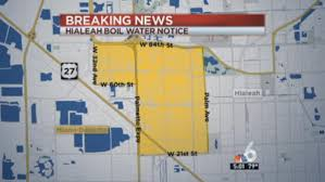 Hialeah Florida Map by Boil Water Notice In Place For Parts Of Hialeah Through Monday