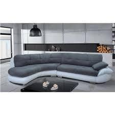 canape gris d angle canapé d angle regal gris et blanc angle gauche achat vente canape