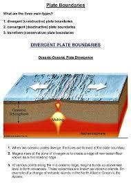 tectonic plate boundaries activity and worksheet u0026 answer key