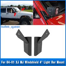 Mounting Brackets For Led Light Bar Pair Windshield 4