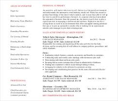 resumes 2016 sles automobile resume templates 25 free word pdf documents