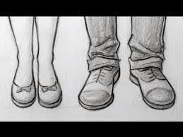 how to draw feet shoes front view male u0026 female youtube
