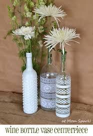 Upcycled Wine Bottles - boho wine bottle vase centerpiece diy mom spark mom blogger