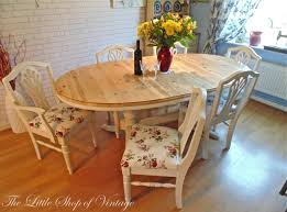 Shabby Chic Dining Room by Shabby Chic Pine Dining Table Living Room Ideas