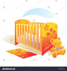Baby Carpet Nursery Baby Bed Teddy Bear Carpet Stock Vector 6668023 Shutterstock