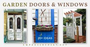 can you use an existing door for a barn door 20 ideas for doors and windows in the garden empress