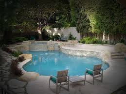 pool design cozy pool and spa design with curvy edge and wooden