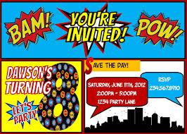 Halloween Birthday Party Invitation Superhero Party Invitations U2013 Gangcraft Net