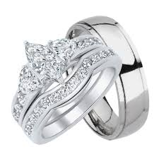 His And Her Wedding Rings by His And Hers Wedding Rings Sterling Silver Titanium Stainless
