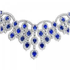 diamond sapphire necklace images Diamond sapphire bib necklace jpg