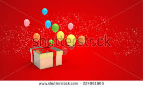 new year box christmas new years day opened gift stock illustration 524265112