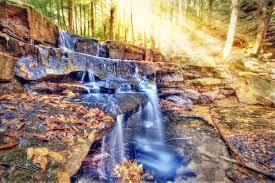 Maryland waterfalls images Shallow falls maryland waterfall sunray jpg