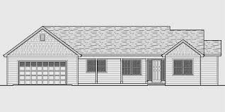 4 room house single level house plans one house plans great room house