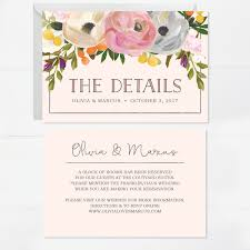 creative union u2014 sweet blooms printed wedding invitation set