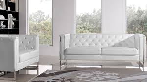 couch and loveseat set modern white leatherette 2 piece easton sofa set with stainless