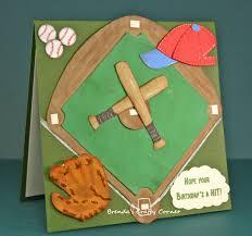 brenda s crafty corner baseball birthday card
