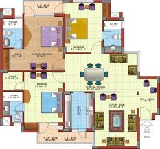 Floor Plan Of House Architect Plans Of 3 Bedroom Flat Shoise Com