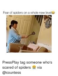 Afraid Of Spiders Meme - fear of spiders on a whole new level pressplay tag someone who s