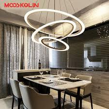 illuminazione sala da pranzo 3 2 1 anelli dei cerchi moderno acrilico led lade a sospensione