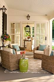 Lime Green Outdoor Rug Patio Outside Of The Sun Room Source Southern Living Covered