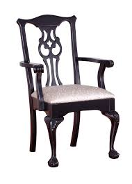 furniture black wooden dining chair with silver accent