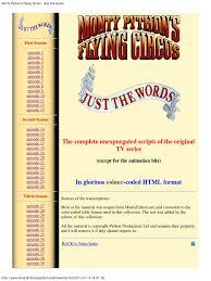 monty python flying circus complete scripts pdf monty python