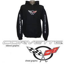 corvette apparel c5 c5 corvette black sweatshirt hoodie corvette