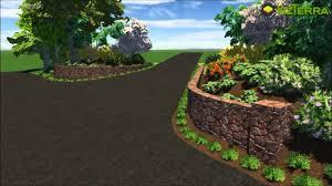 driveway entrance landscape design youtube