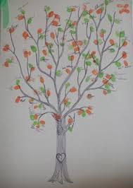 40x60cm new design fingerprint wedding tree guest book signature
