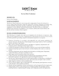 desktop support technician job description resume desktop support