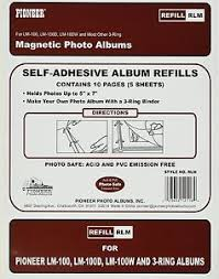 pioneer photo albums refill pages pioneer photo albums 8 25 x 10 5 magnetic photo album refill