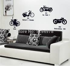 canap entr e creative noir vélo moto bricolage stickers muraux tv canapé fond