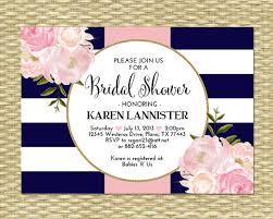 birthday brunch invitation bridal shower invitation navy blue pink gold glitter stripes