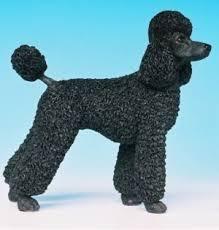 poodle ornaments leonardo black poodle figurine poodle