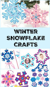 snowflake wand winter craft in the playroom