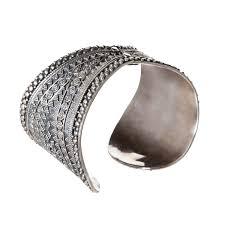 sterling silver cuff bangle bracelet images Sterling silver tribal bangle bracelet large wide cuff jpg
