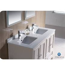 White Double Sink Bathroom Vanities by 48